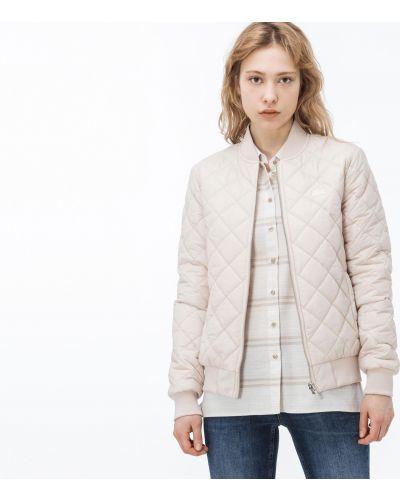 Куртка розовая на молнии Lacoste
