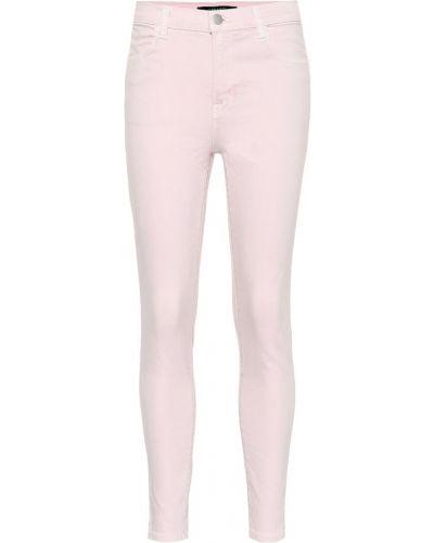 Розовые джинсы-скинни стрейч с пайетками J Brand