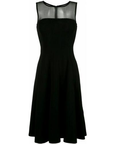 Платье миди платье-солнце без рукавов Emporio Armani