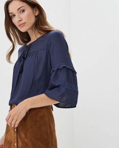 Синяя блузка с длинным рукавом S.oliver
