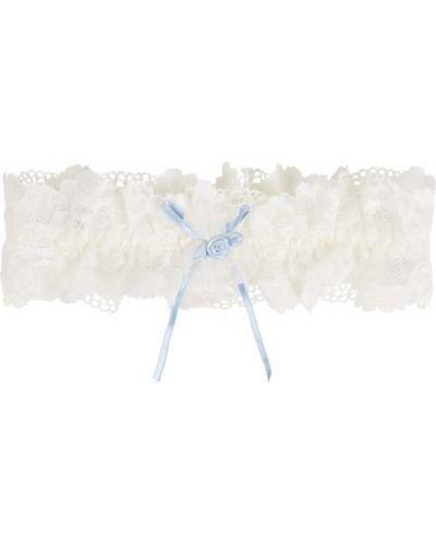 Podwiązka koronkowa - biała Lascana