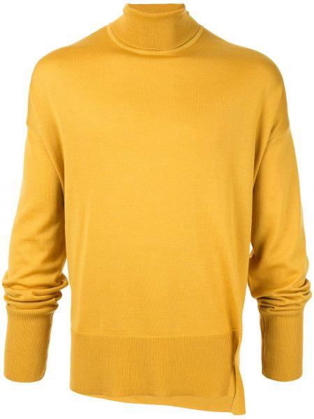 Żółty sweter wełniany z długimi rękawami Wooyoungmi