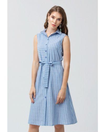 Платье мини весеннее синее Oks By Oksana Demchenko
