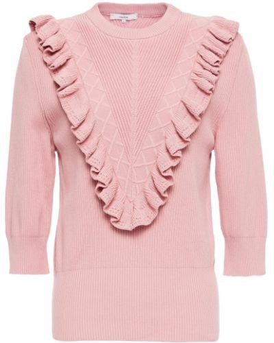 Ватный хлопковый розовый свитер Erdem