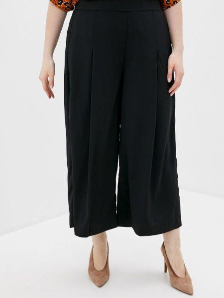 Свободные брюки расклешенные черные Rosa Thea