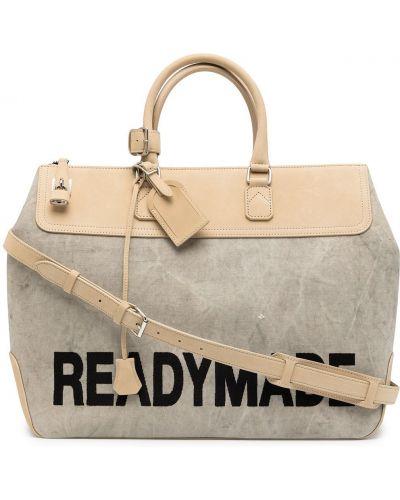 Biała torba na ramię skórzana Readymade