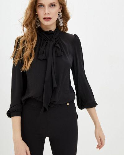 Черная блузка с бантом Blugirl Folies