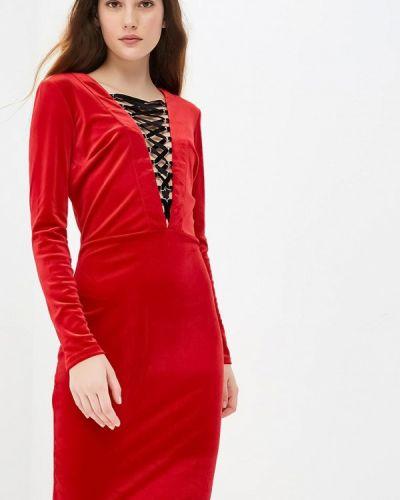 Вечернее платье красный осеннее Gorchica