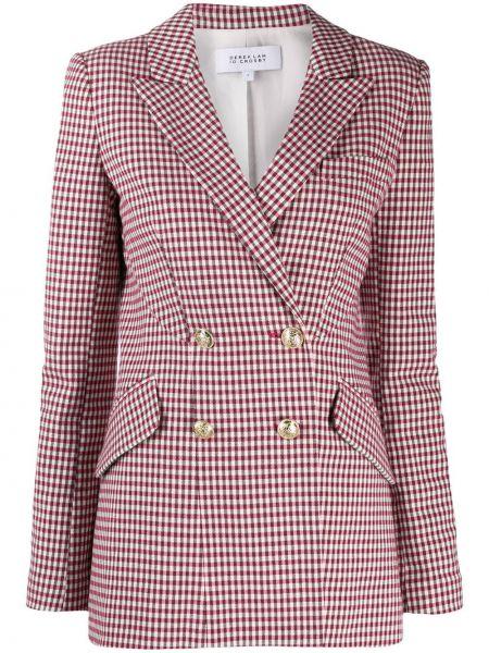 Розовый пиджак двубортный с карманами Derek Lam 10 Crosby