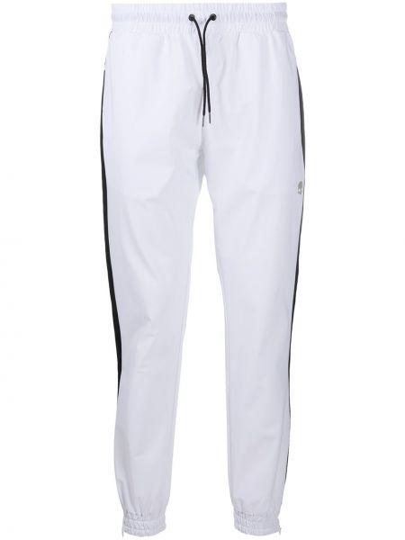 Białe spodnie z printem Hydrogen