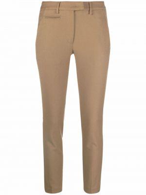 Коричневые брюки с карманами Dondup