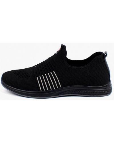 Черные текстильные низкие кроссовки Berten