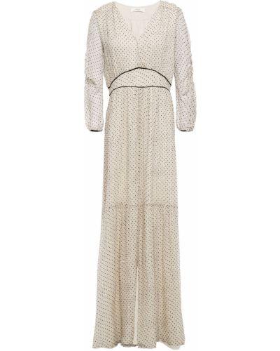 Шелковое платье макси с оборками с подкладкой Ba&sh