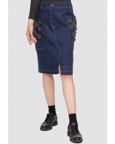 Джинсовая юбка синяя Dolcedonna