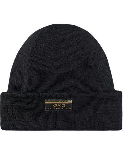 Klasyczny czarny kapelusz Gucci
