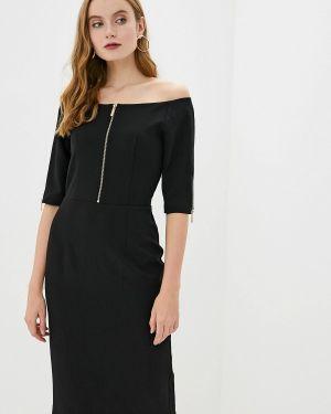 Платье с открытыми плечами осеннее Francesco Donni