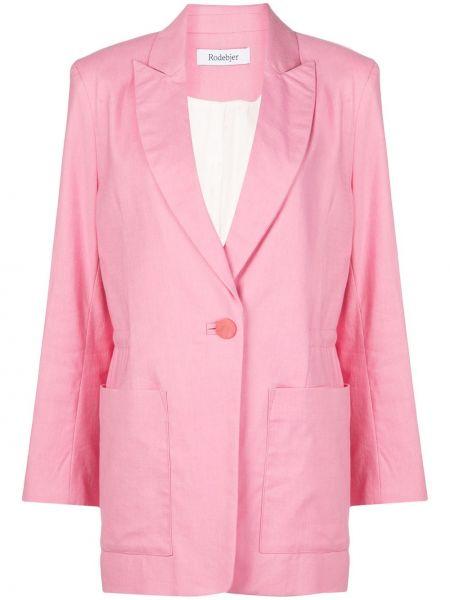 Прямая розовая куртка на пуговицах с карманами Rodebjer