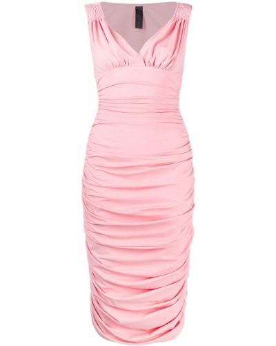 Платье розовое с V-образным вырезом Norma Kamali