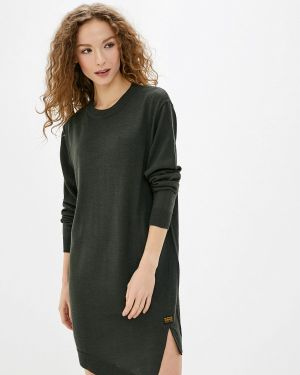 Вязаное платье хаки G-star