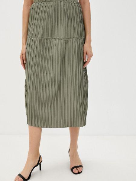 Шорты-юбки юбка осенняя хаки B.style