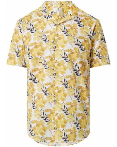 Żółta koszula krótki rękaw bawełniana Anerkjendt