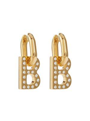 Повседневные серьги - золотые Balenciaga