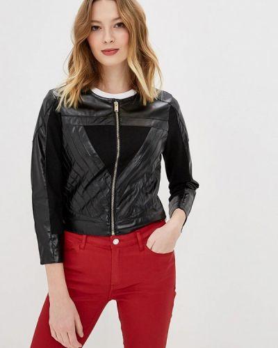 Кожаная куртка черная весенняя Silvian Heach