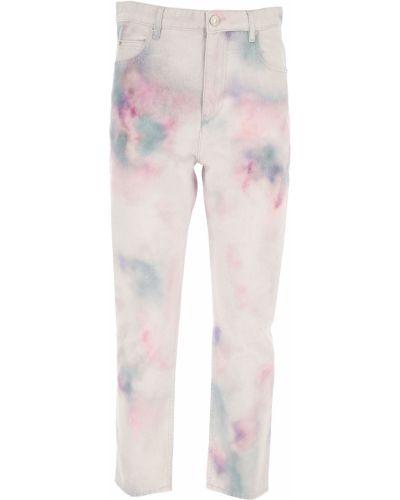Białe jeansy zapinane na guziki bawełniane Isabel Marant