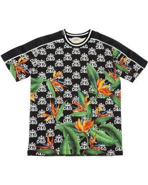 Трикотажная футболка с принтом с короткими рукавами Dolce & Gabbana