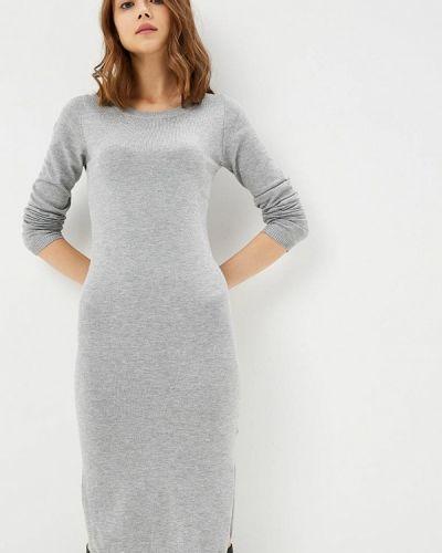 Платье осеннее серое Modis