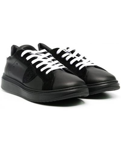 Кожаные черные кеды на шнуровке Philippe Model Kids