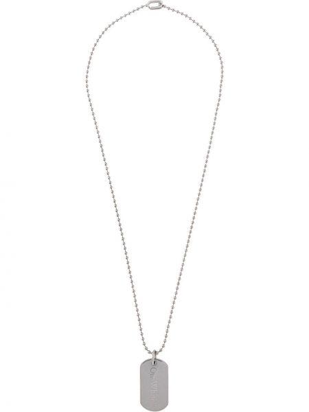 Серебряное ожерелье металлическое Off-white