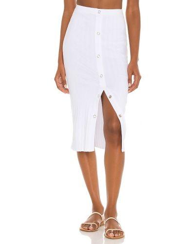 Белая текстильная юбка миди Enza Costa