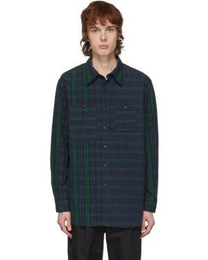 Koszula z długim rękawem długa z popeliny Engineered Garments
