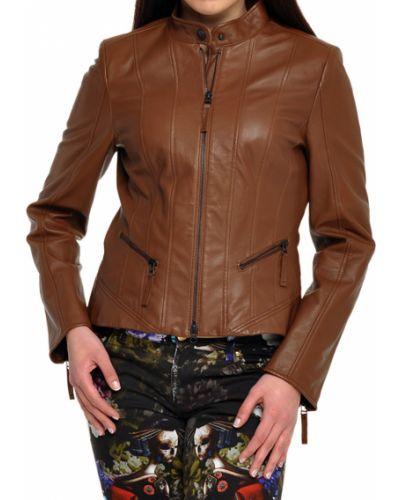 Кожаная куртка - коричневая Luisa Cerano