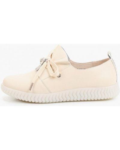 Бежевые кожаные ботинки Inario