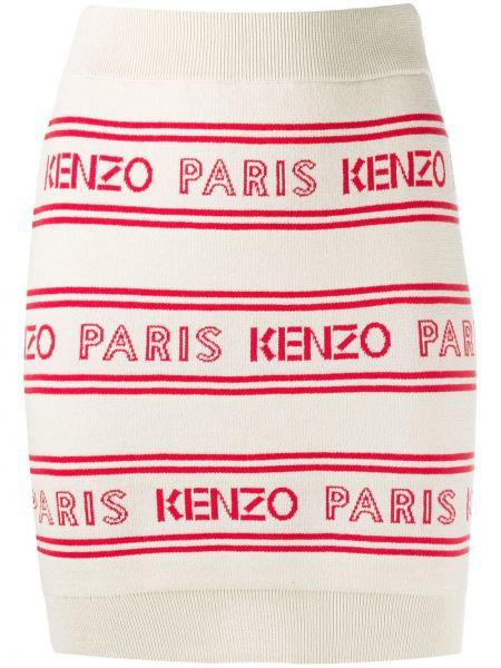 Юбка макси вязаная с поясом Kenzo