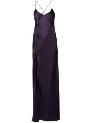 Платье с открытой спиной - фиолетовое Michelle Mason