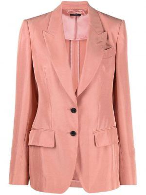 Однобортный розовый удлиненный пиджак с карманами Tom Ford
