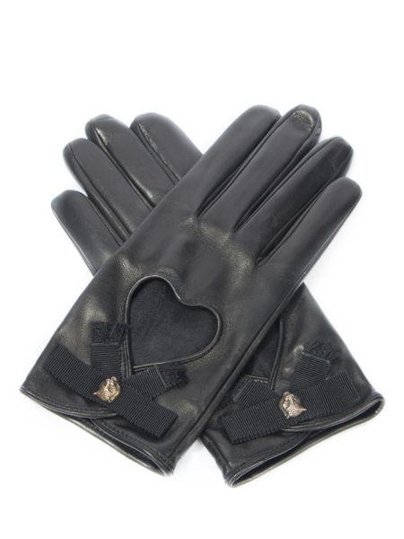 Кожаные черные кожаные перчатки Gucci