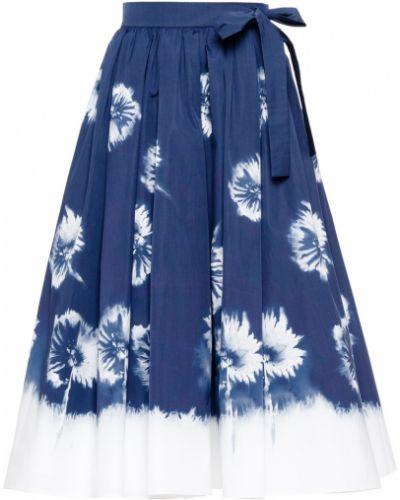 Белая хлопковая юбка Prada
