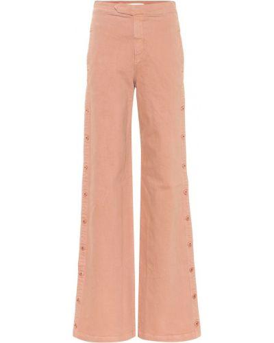 Широкие джинсы mom розовый Jonathan Simkhai
