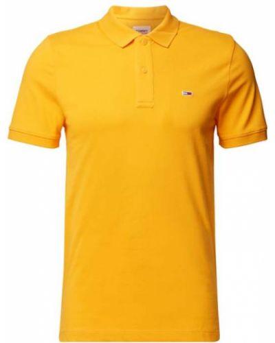 Pomarańczowy t-shirt bawełniany Tommy Jeans