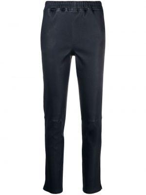 Синие кожаные брюки с поясом Arma