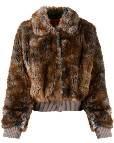 Темно-синяя длинная куртка из искусственного меха с манжетами Vivienne Westwood Pre-owned