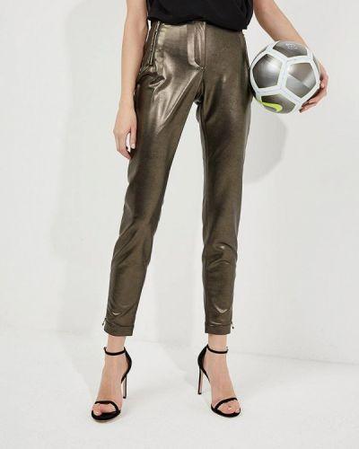 Зауженные брюки золотого цвета Just Cavalli