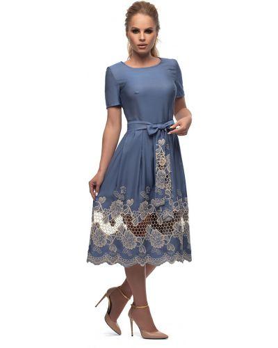 Летнее платье миди с поясом Петербургский Швейный Дом