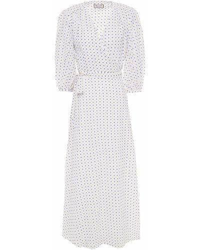 Хлопковое белое платье макси с подкладкой Paul & Joe