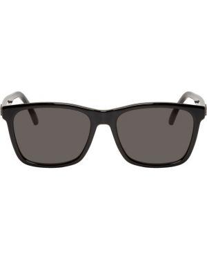 Okulary przeciwsłoneczne czarny srebro Saint Laurent