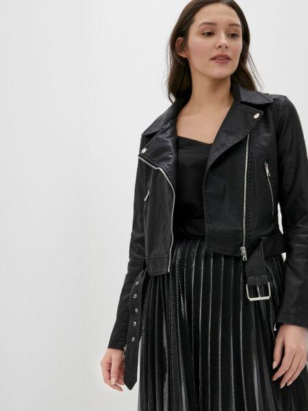 Кожаная куртка черная весенняя Concept Club